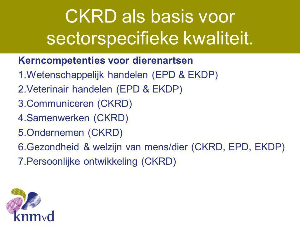 CKRD als basis voor sectorspecifieke kwaliteit.
