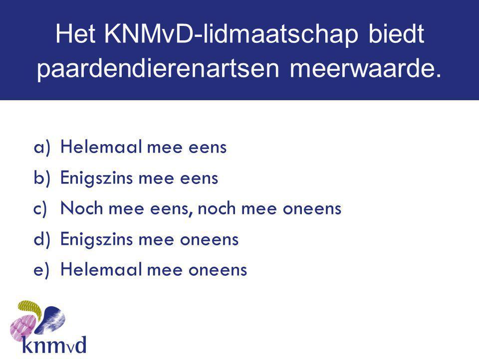 Het KNMvD-lidmaatschap biedt paardendierenartsen meerwaarde.