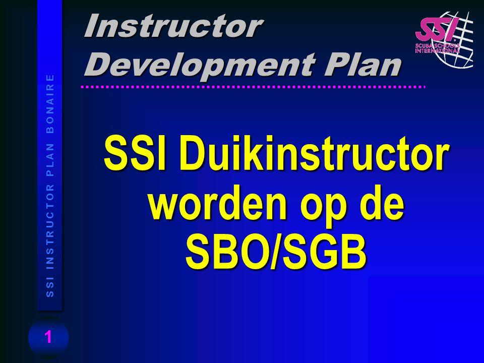 SSI Duikinstructor worden op de SBO/SGB