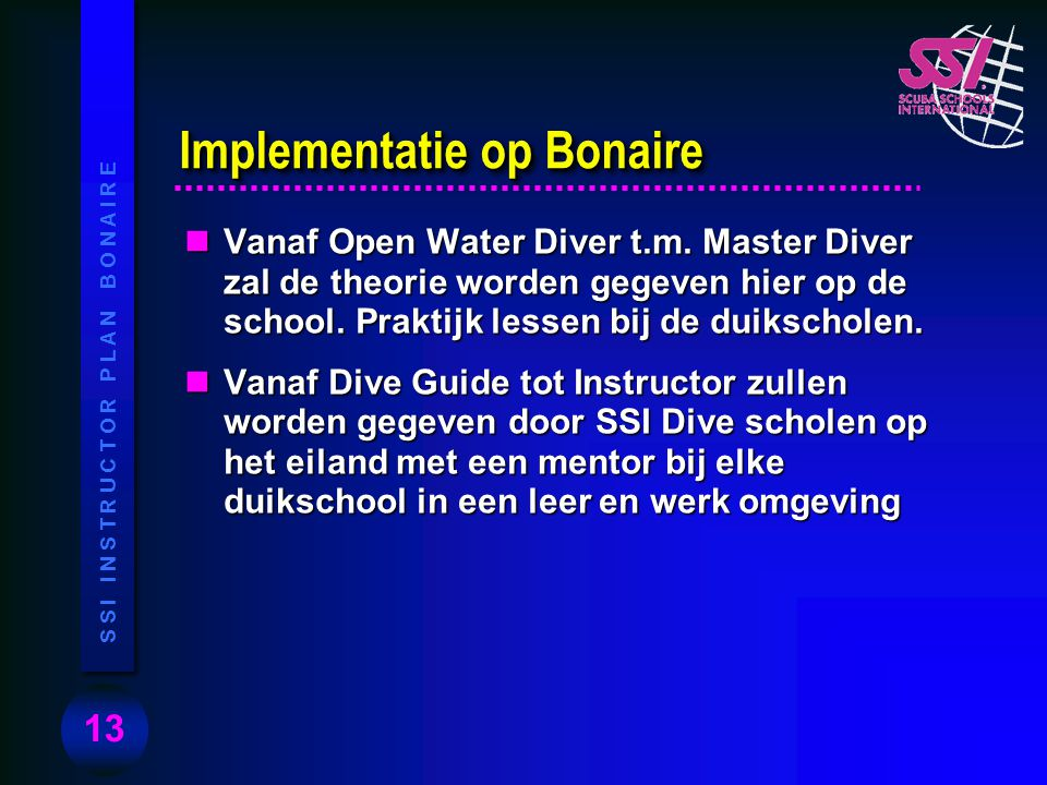 Implementatie op Bonaire