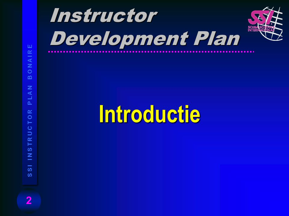 Instructor Development Plan Introductie