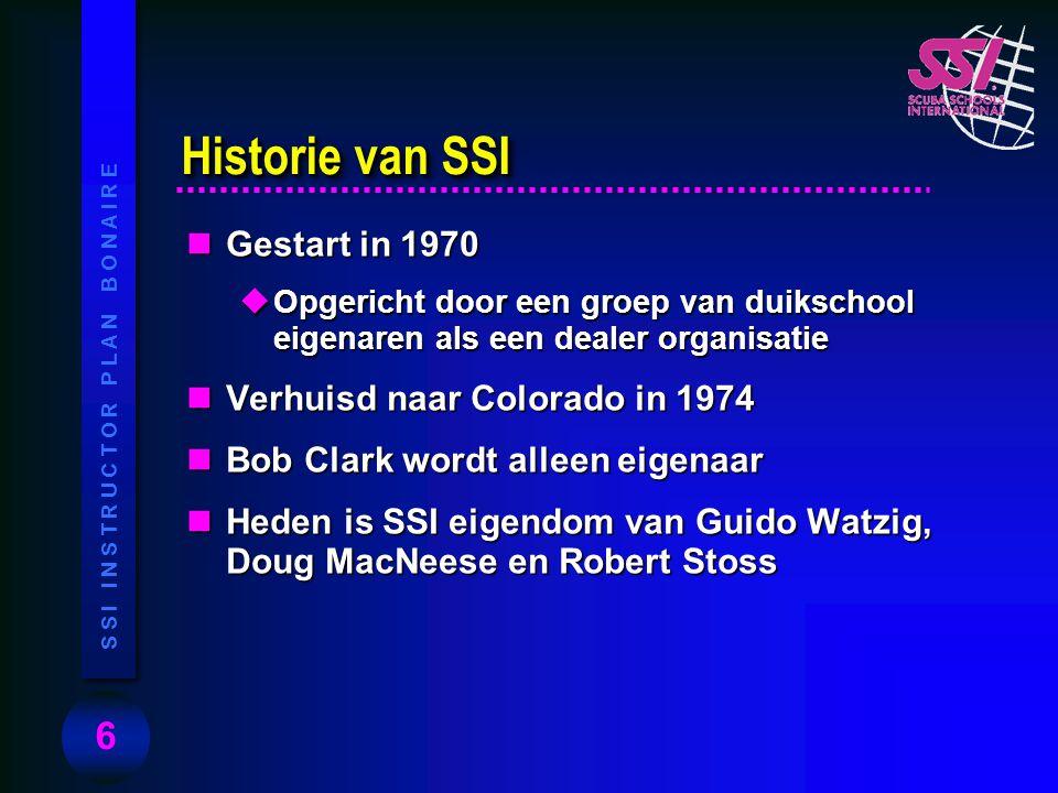 Historie van SSI Gestart in 1970 Verhuisd naar Colorado in 1974
