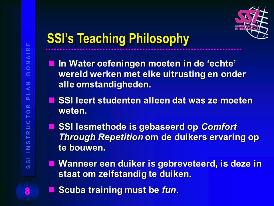 SSI's Teaching Philosophy
