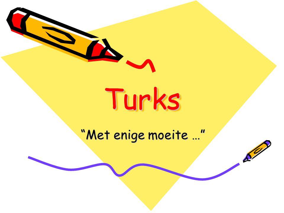 Turks Met enige moeite …