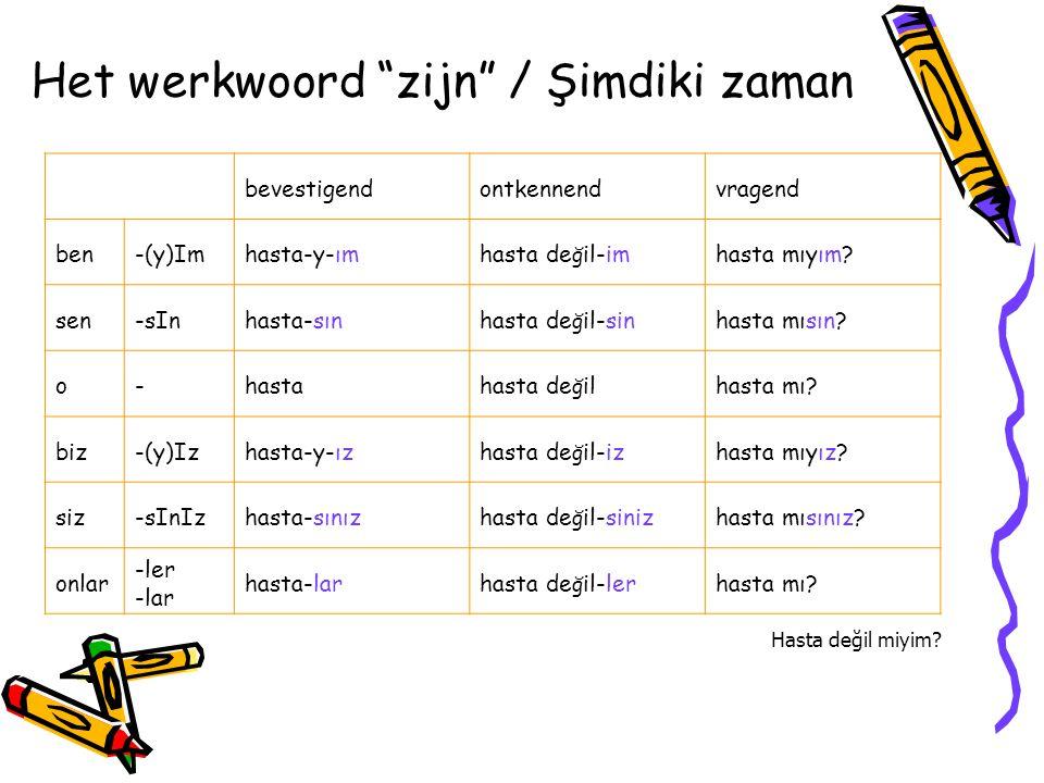 Het werkwoord zijn / Şimdiki zaman