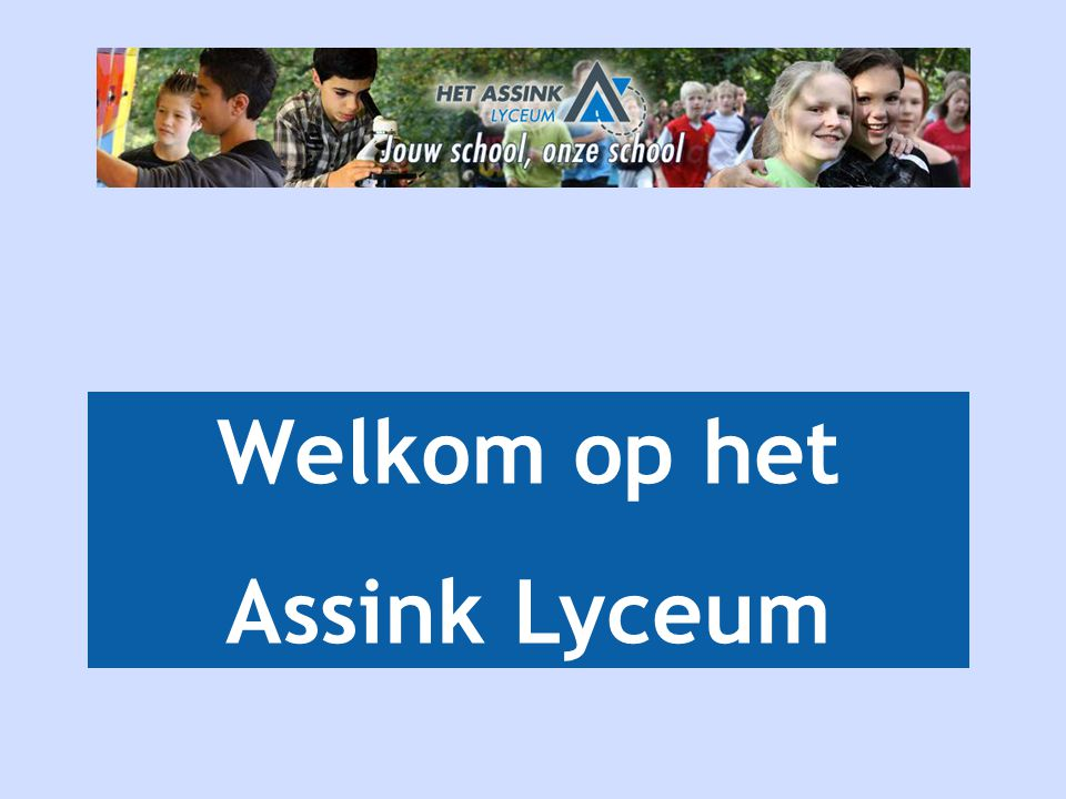 Welkom op het Assink Lyceum