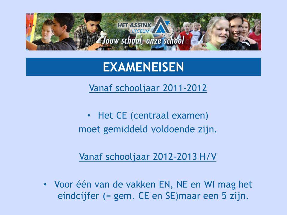 EXAMENEISEN Vanaf schooljaar 2011-2012 Het CE (centraal examen)