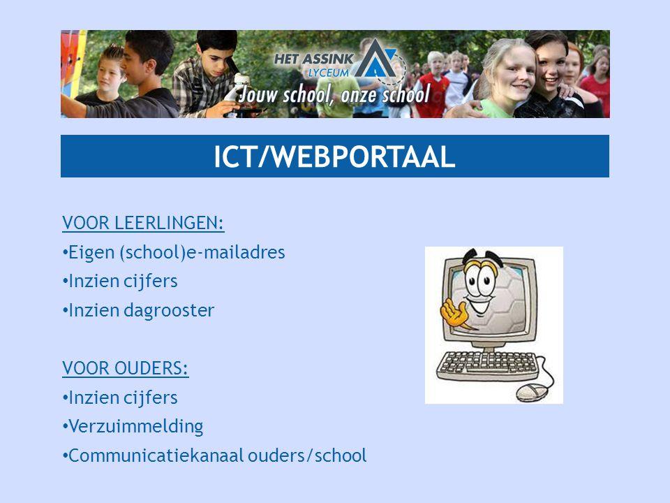 ICT/WEBPORTAAL VOOR LEERLINGEN: Eigen (school)e-mailadres
