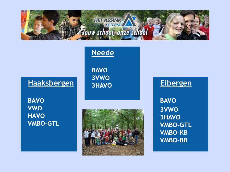 Neede Haaksbergen Eibergen BAVO 3VWO 3HAVO BAVO VWO HAVO VMBO-GTL BAVO