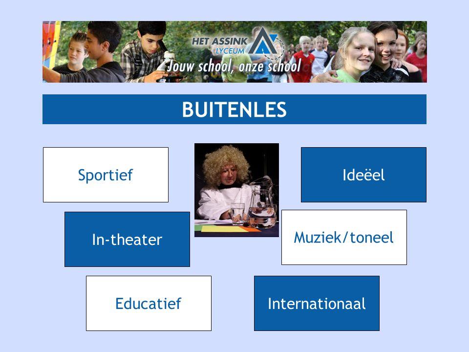 BUITENLES Sportief Ideëel In-theater Muziek/toneel Educatief