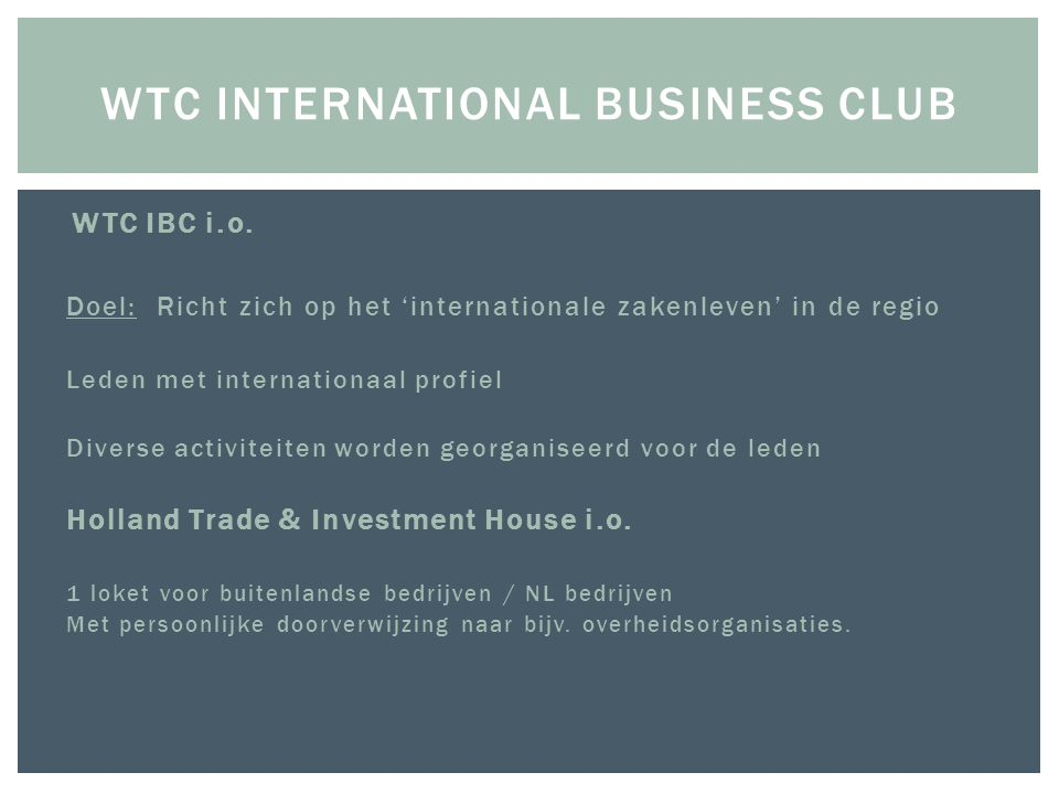WTC international business club
