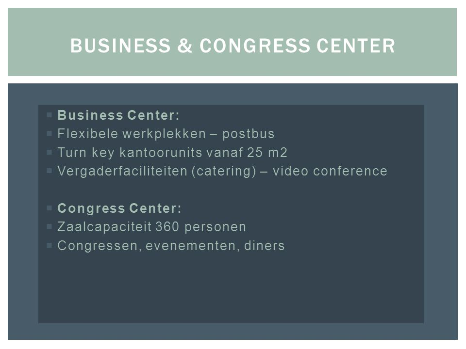 Business & congress center