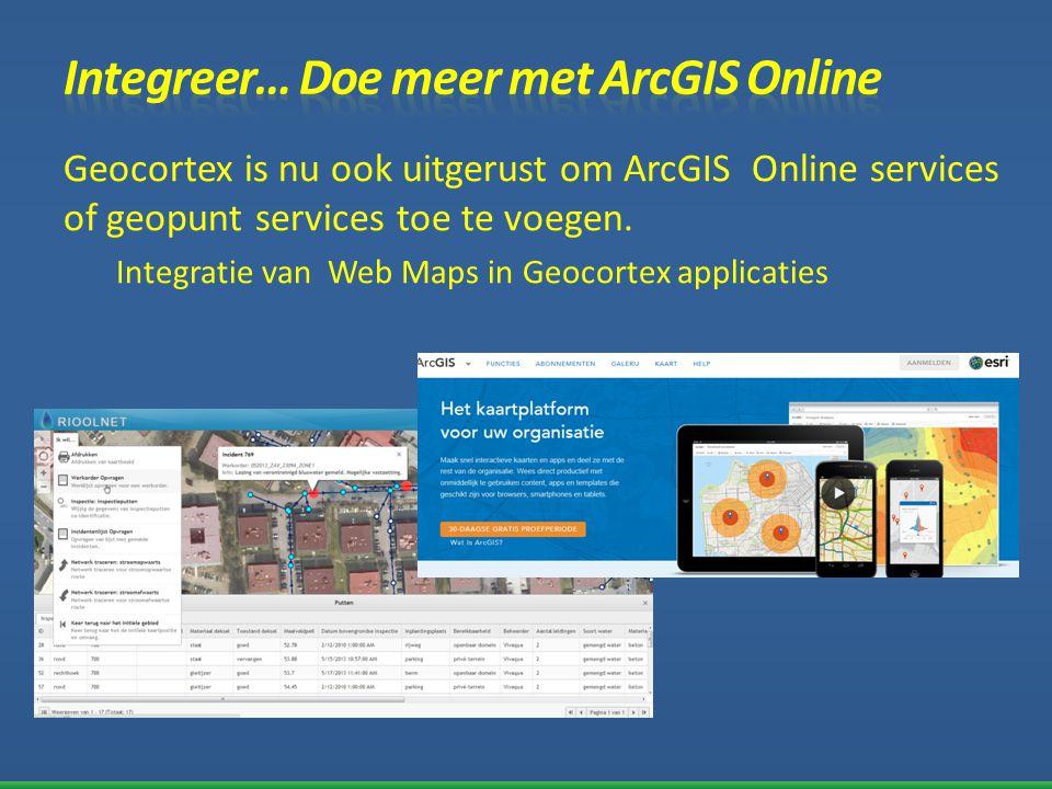 Integreer… Doe meer met ArcGIS Online