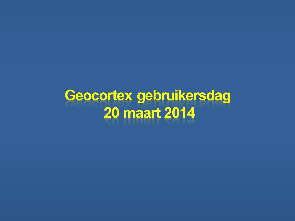 Geocortex gebruikersdag 20 maart 2014