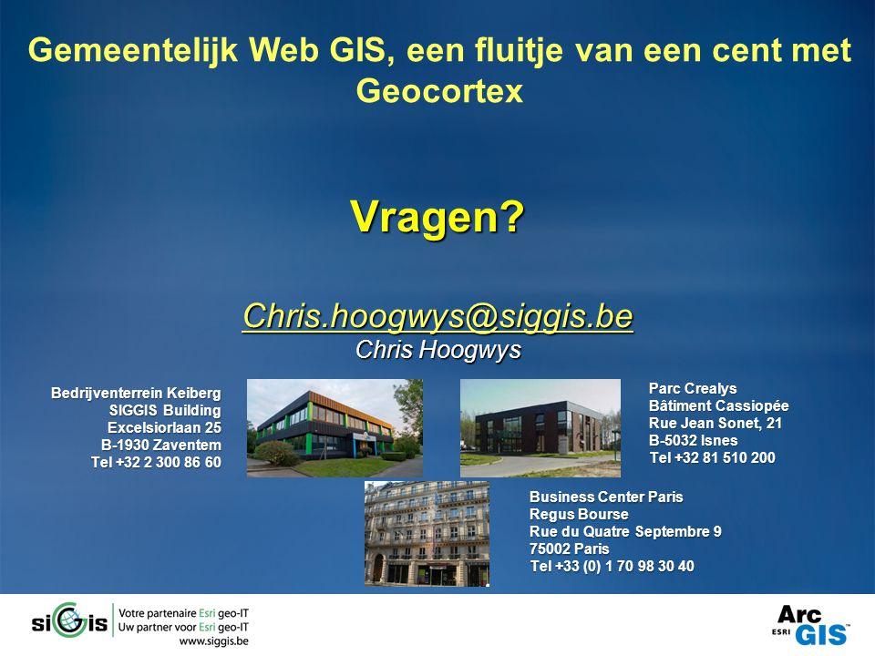 Vragen Chris.hoogwys@siggis.be Chris Hoogwys