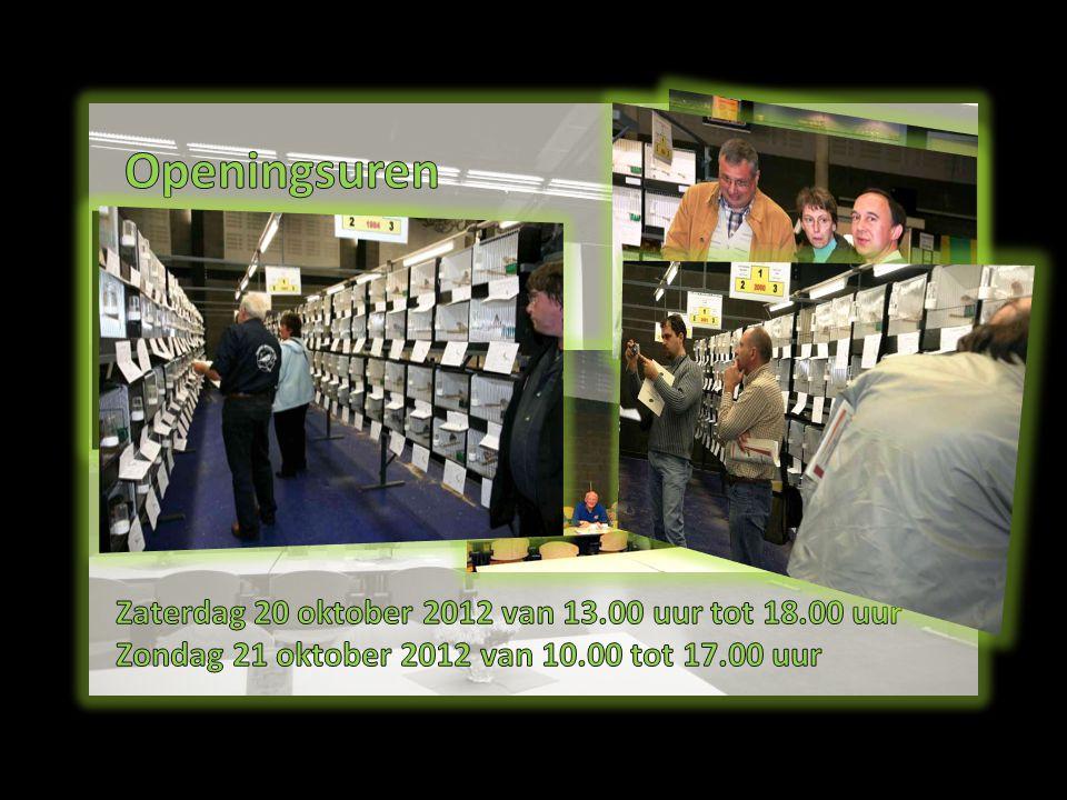 Openingsuren Zaterdag 20 oktober 2012 van 13.00 uur tot 18.00 uur