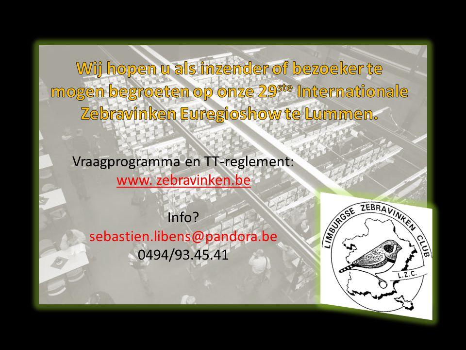 Vraagprogramma en TT-reglement: