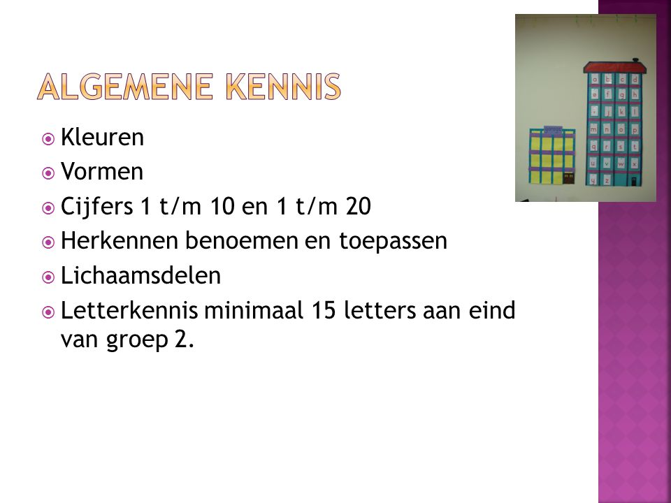 Algemene kennis Kleuren Vormen Cijfers 1 t/m 10 en 1 t/m 20