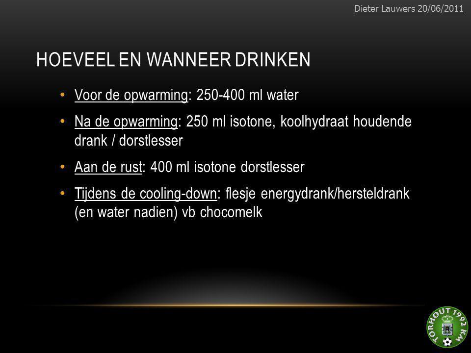Hoeveel en wanneer drinken