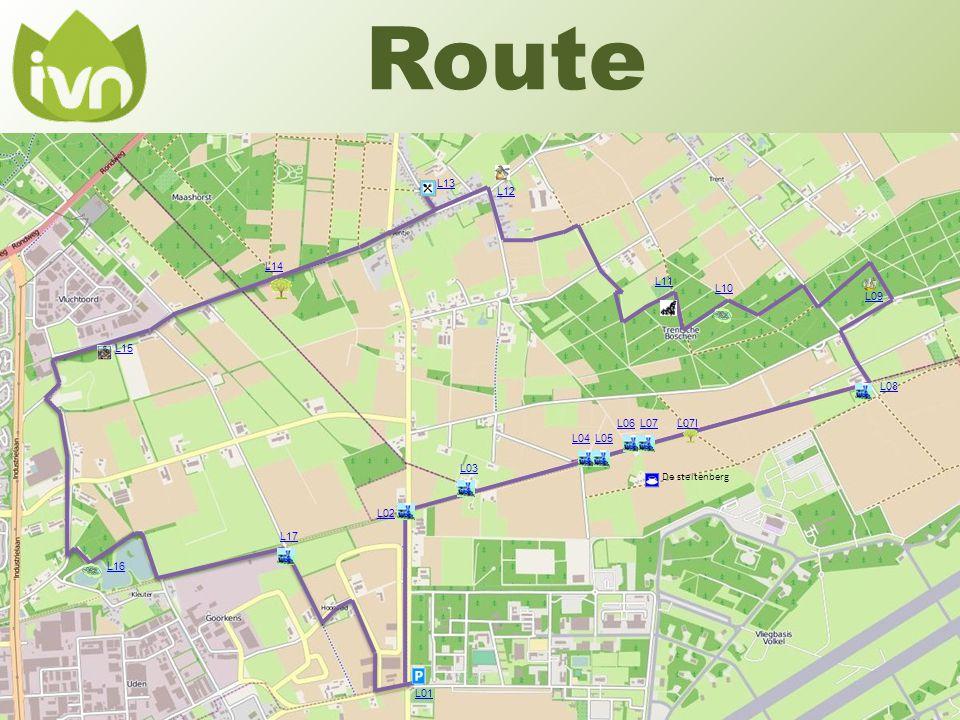 Route L13 L12 L14 L11 L10 L09 L15 L08 L06 L07 L07I L04 L05 L03