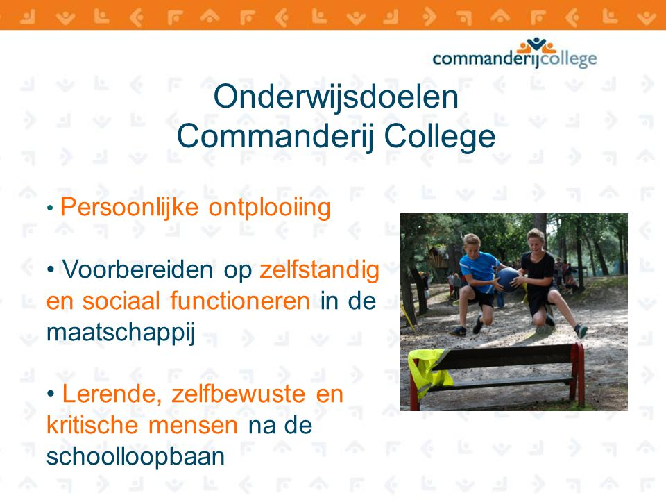 Onderwijsdoelen Commanderij College