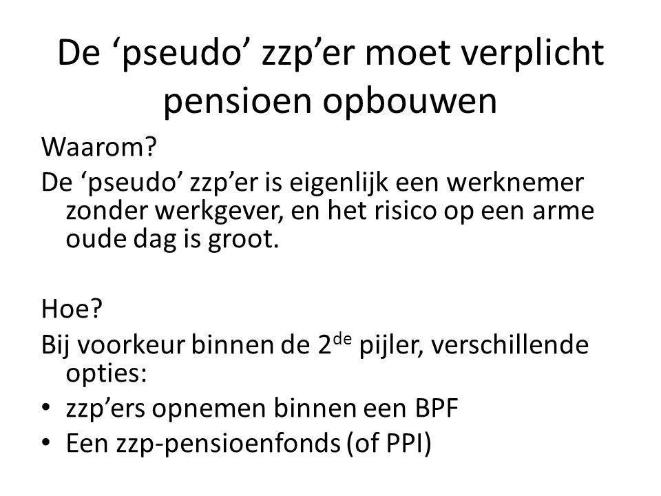 De 'pseudo' zzp'er moet verplicht pensioen opbouwen