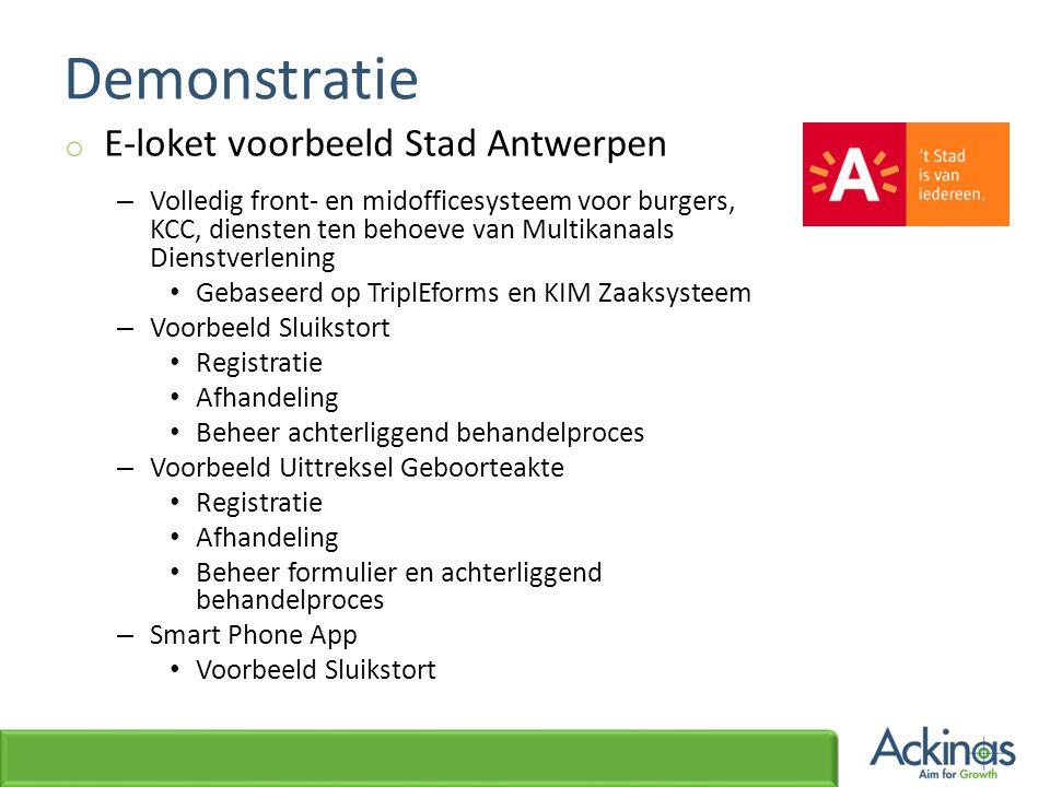 Demonstratie E-loket voorbeeld Stad Antwerpen