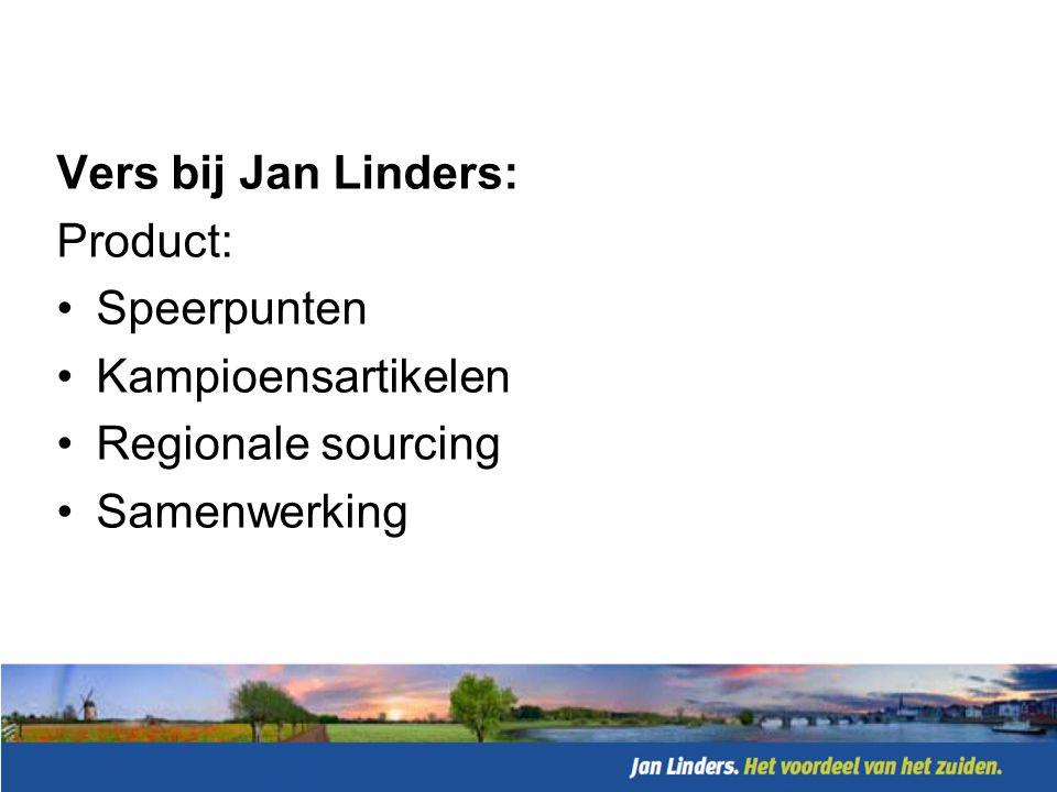 Vers bij Jan Linders: Product: Speerpunten Kampioensartikelen Regionale sourcing Samenwerking