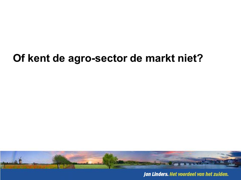 Of kent de agro-sector de markt niet
