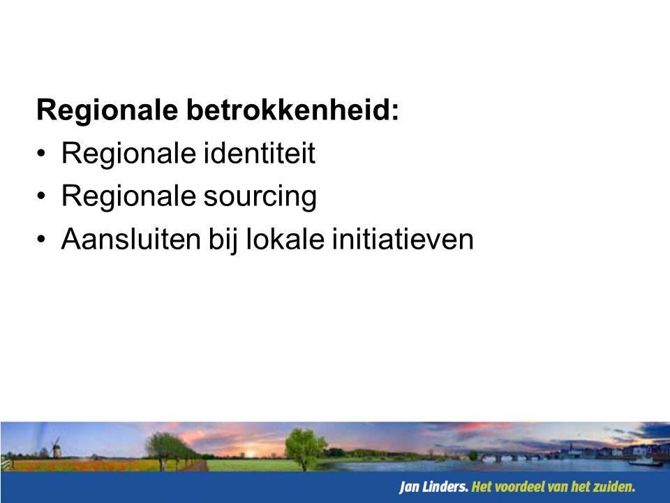 Regionale betrokkenheid: