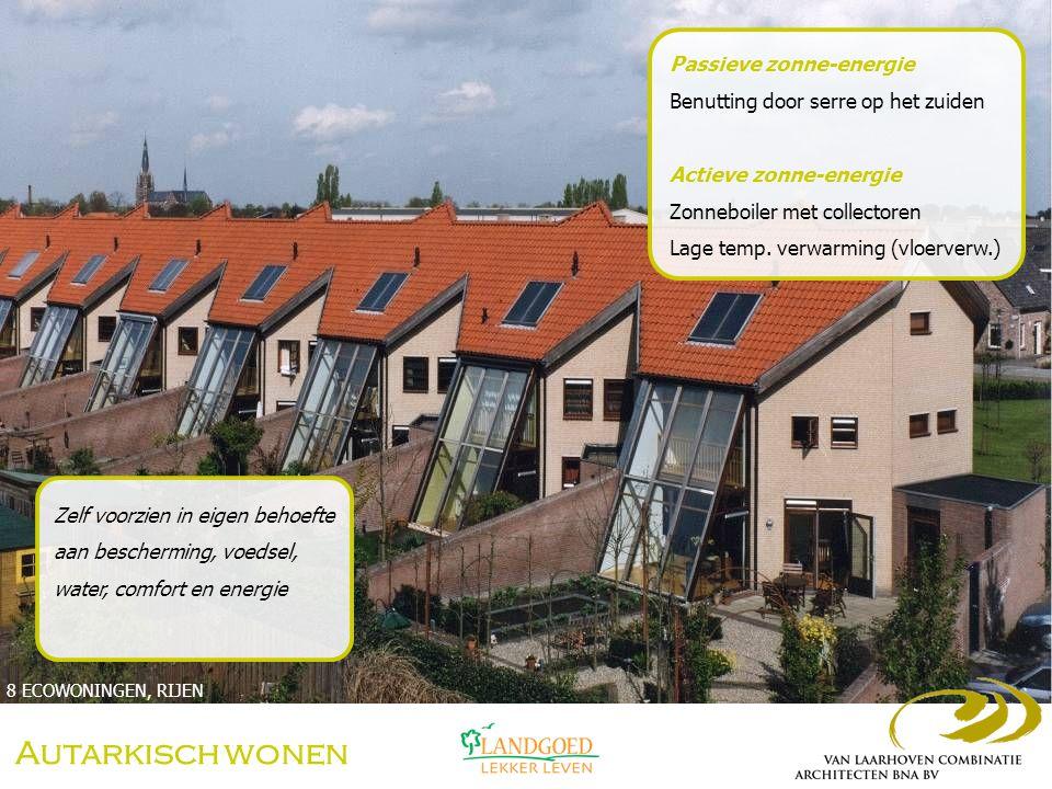 Autarkisch wonen Passieve zonne-energie