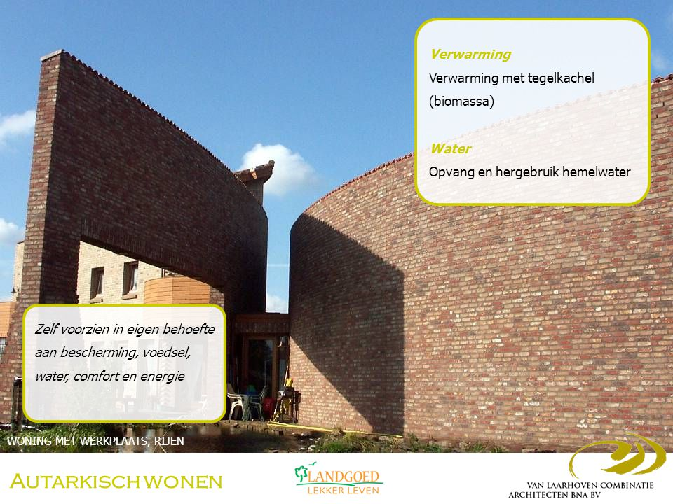 Autarkisch wonen Verwarming Verwarming met tegelkachel (biomassa)