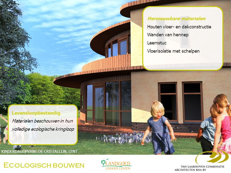 Ecologisch bouwen Hernieuwbare materialen