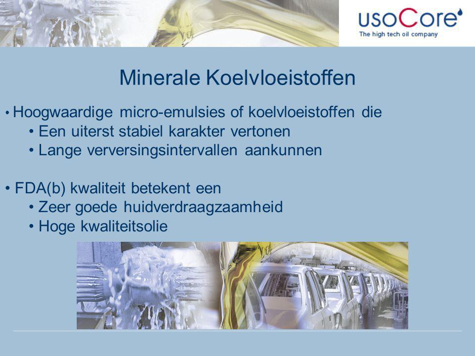 Minerale Koelvloeistoffen