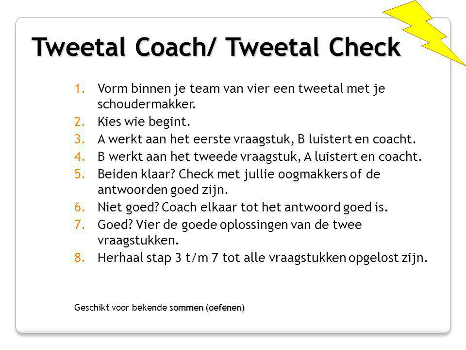 Tweetal Coach/ Tweetal Check