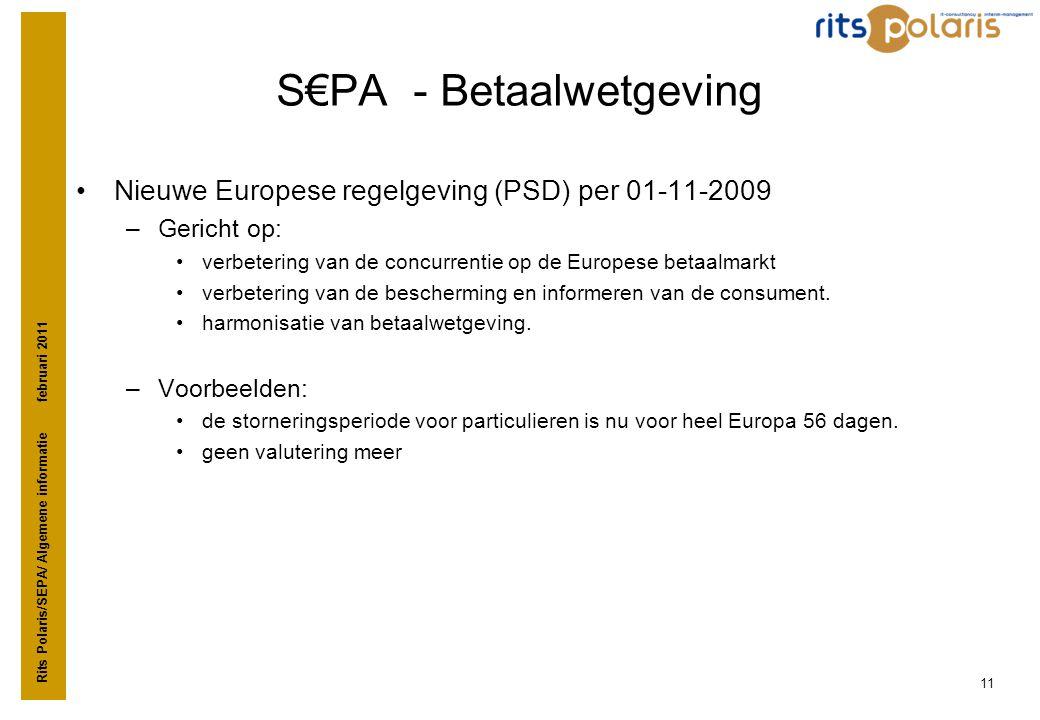 S€PA - Betaalwetgeving
