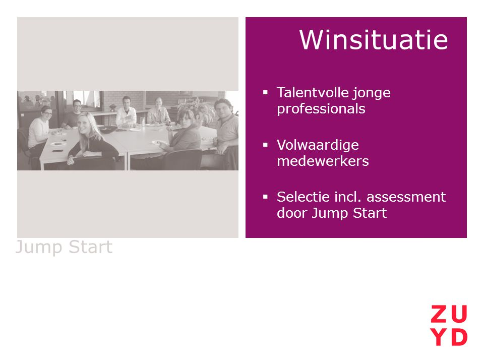 Winsituatie Jump Start Talentvolle jonge professionals