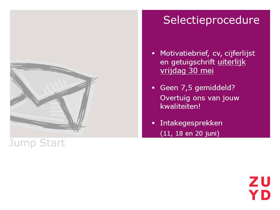 Selectieprocedure Jump Start