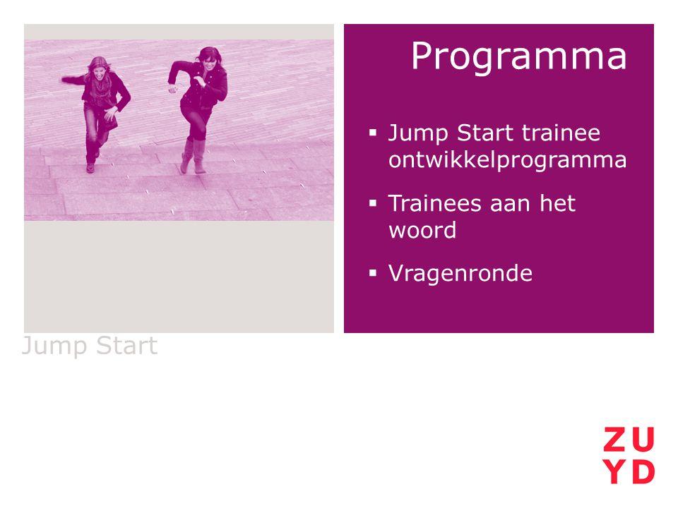 Programma Jump Start Jump Start trainee ontwikkelprogramma