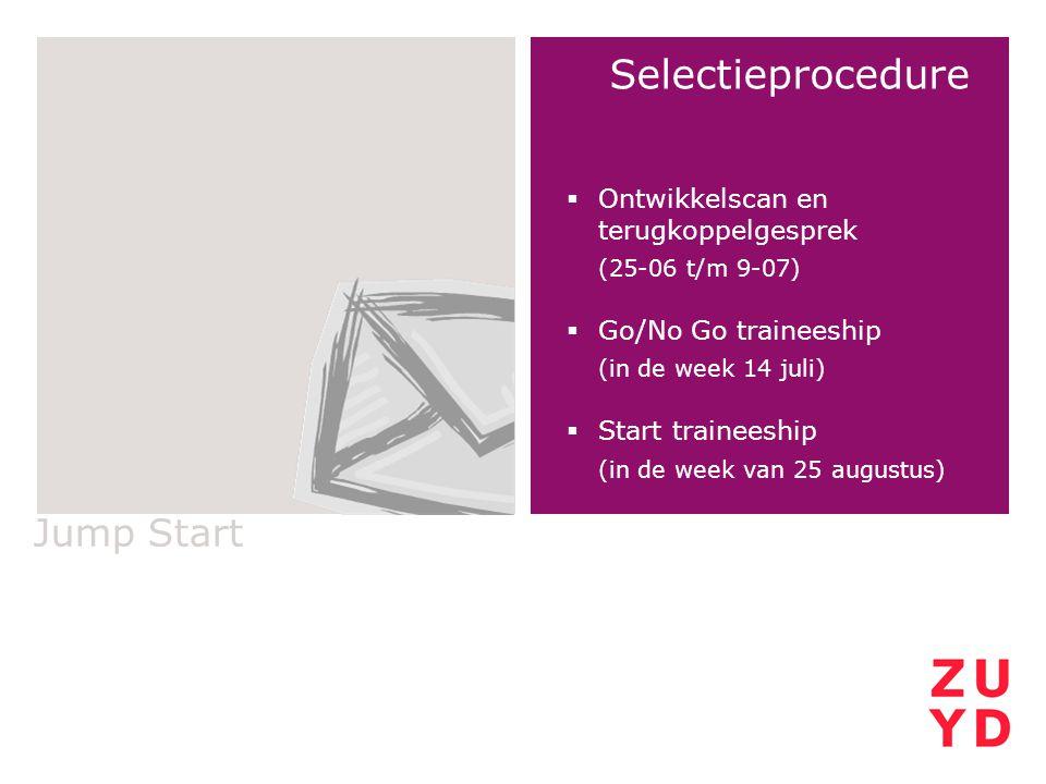 Selectieprocedure Jump Start Ontwikkelscan en terugkoppelgesprek