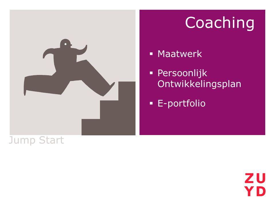 Coaching Jump Start Maatwerk Persoonlijk Ontwikkelingsplan E-portfolio