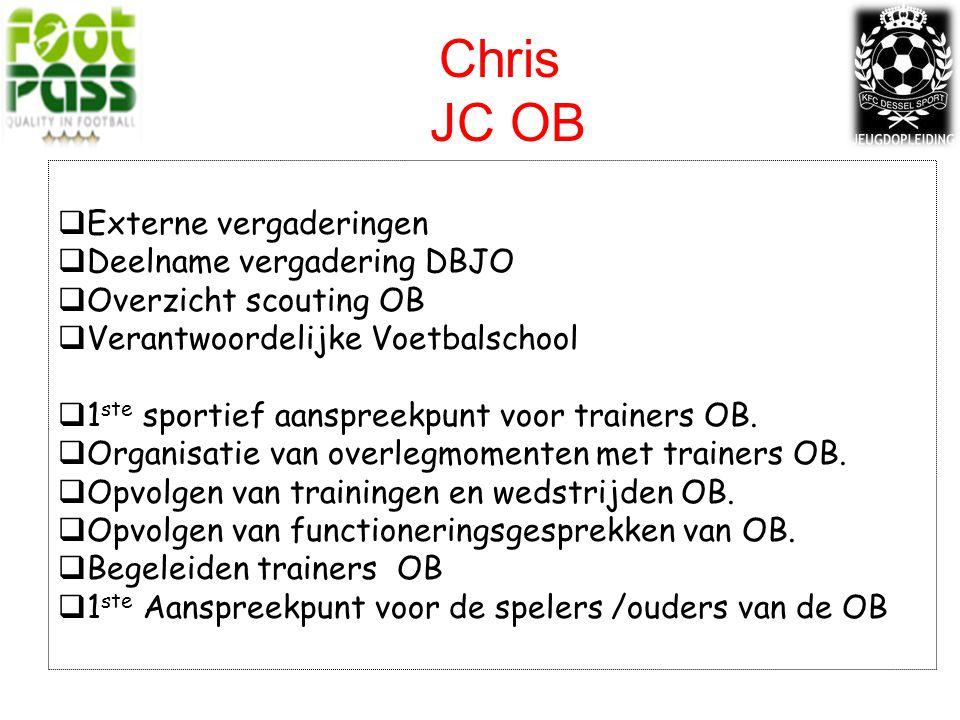 Chris JC OB Externe vergaderingen Deelname vergadering DBJO