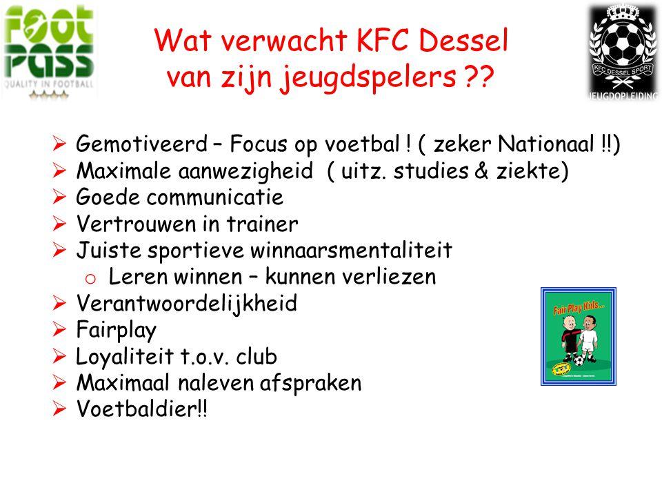 Wat verwacht KFC Dessel van zijn jeugdspelers