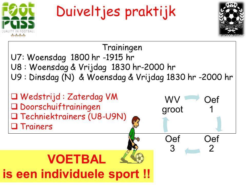 is een individuele sport !!