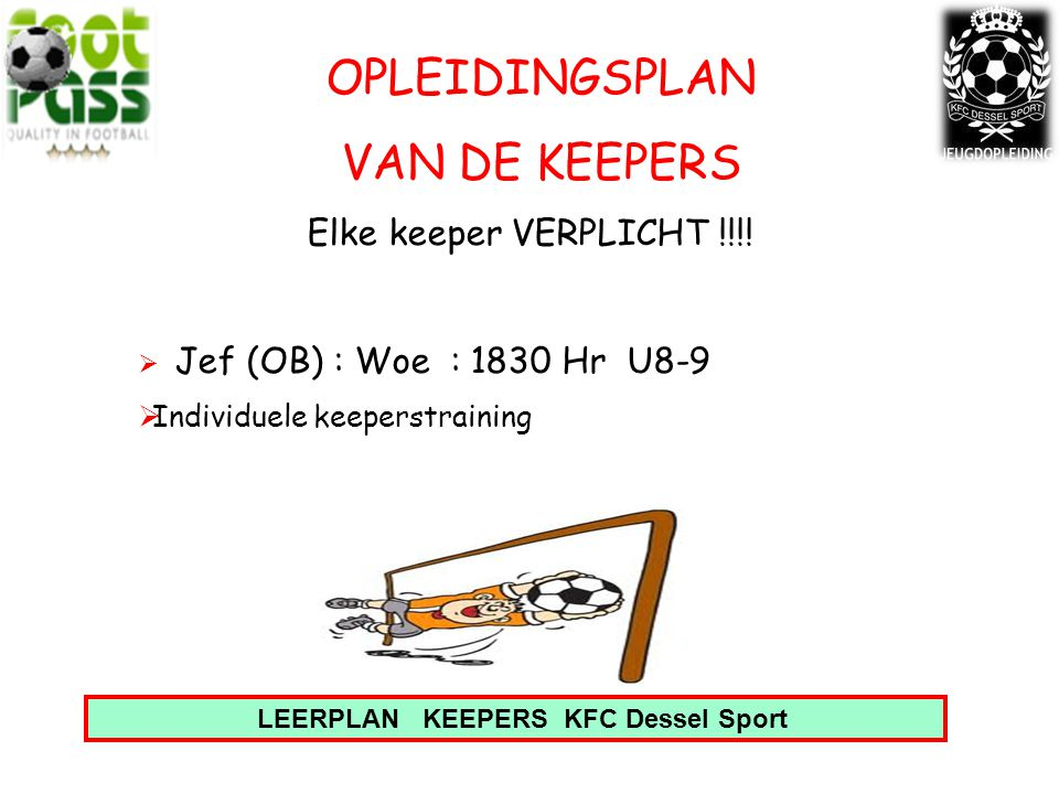 LEERPLAN KEEPERS KFC Dessel Sport