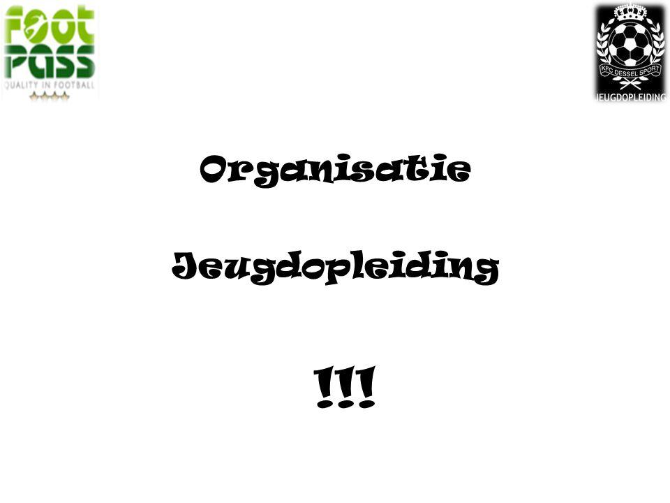 Organisatie Jeugdopleiding !!!