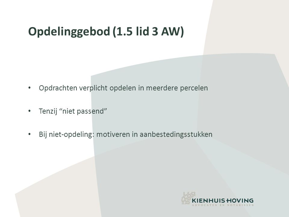 Opdelinggebod (1.5 lid 3 AW)