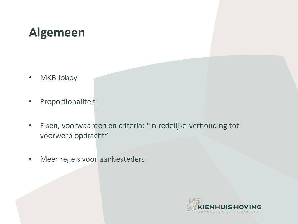 Algemeen MKB-lobby Proportionaliteit