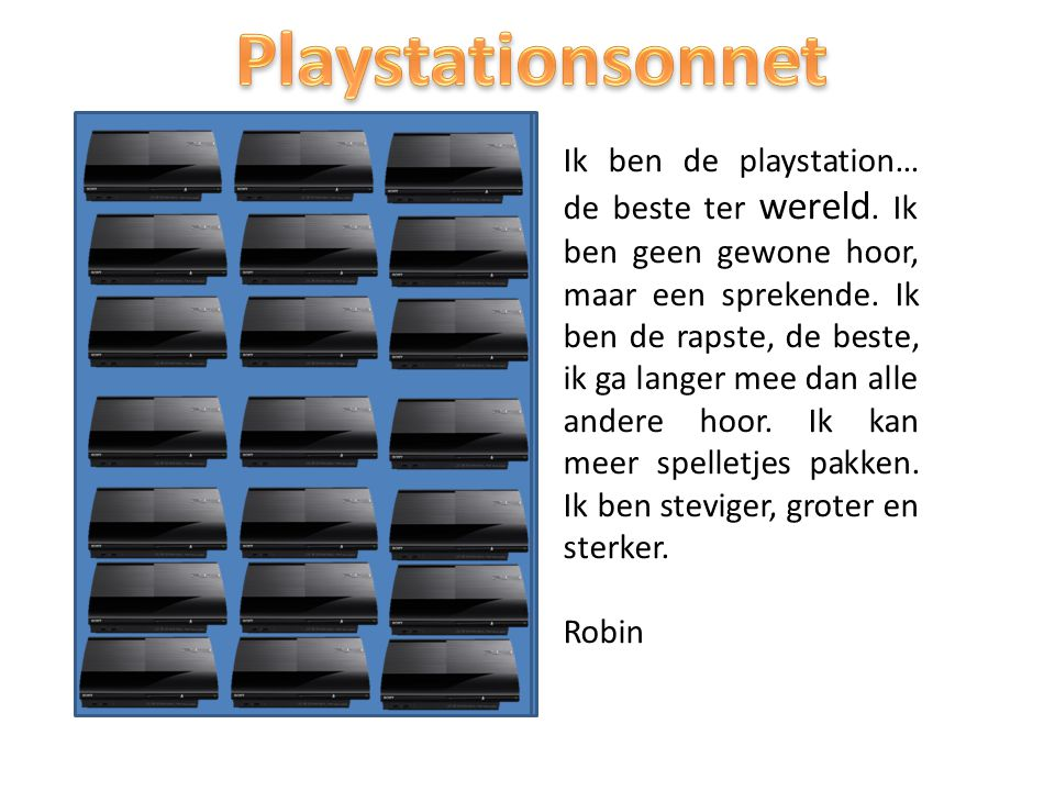 Playstationsonnet