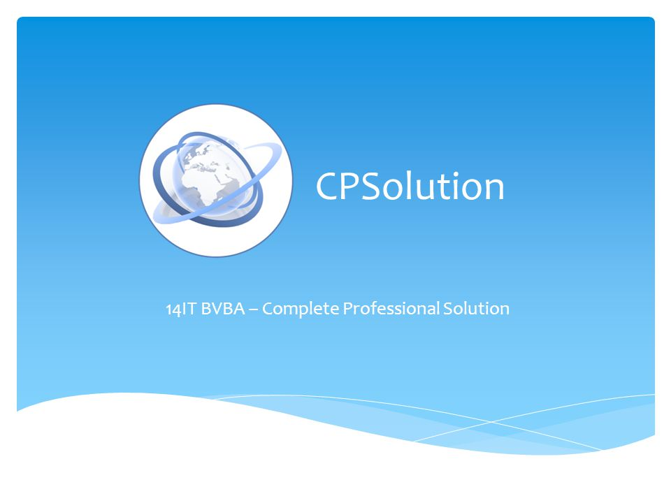14IT BVBA – Complete Professional Solution